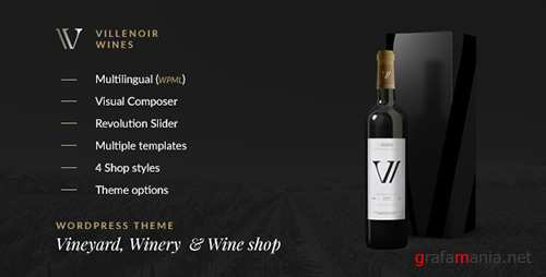 ThemeForest - Villenoir v2.7 - Vineyard, Winery & Wine Shop - 15605053