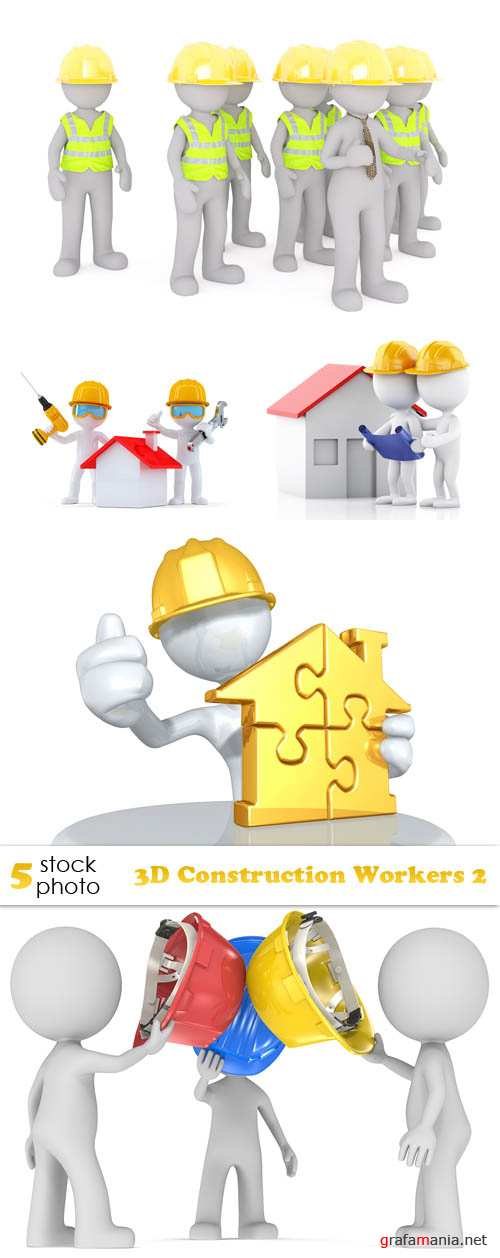 Photos - 3D Construction Workers 2