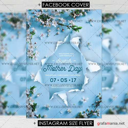 Premium A5 Flyer Template - Mother Day Brunch