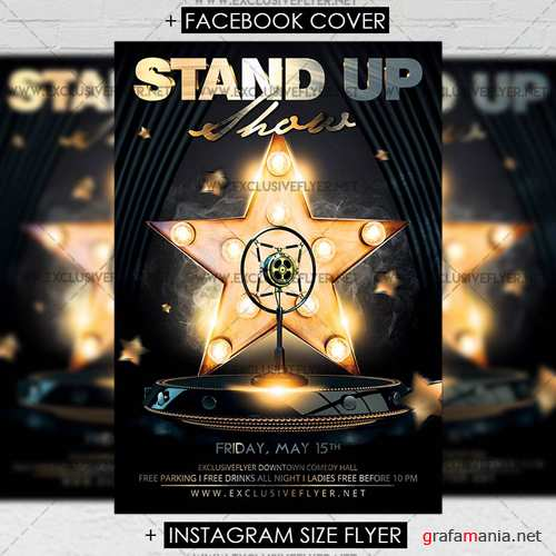 Premium A5 Flyer Template - Stand Up Show