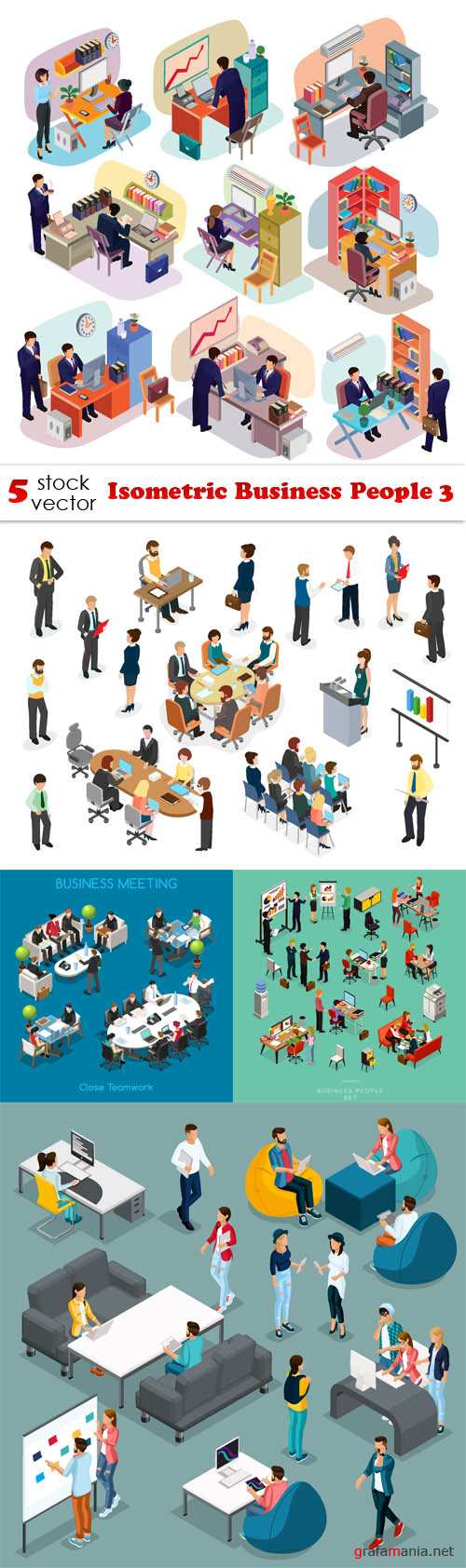 Vectors - Isometric Business People 3
