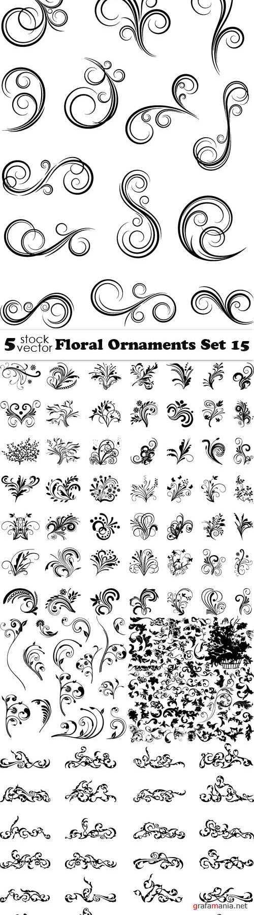Vectors - Floral Ornaments Set 15