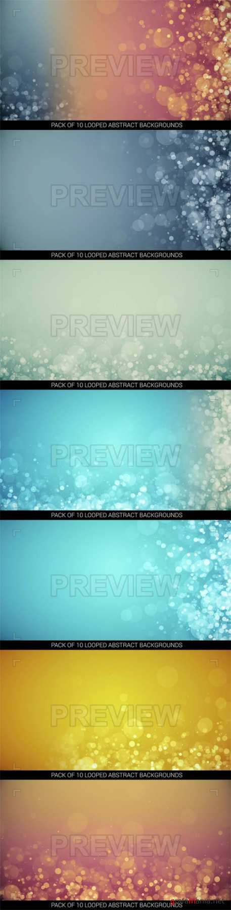 10 Looped Abstract Backgrounds