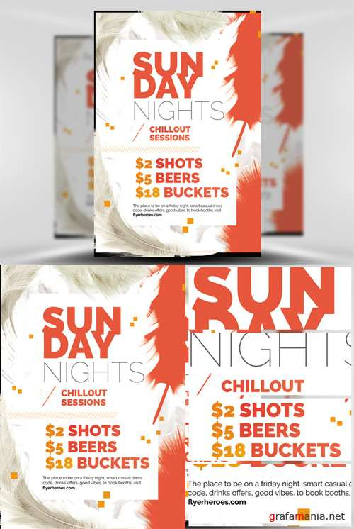 Sunday Night Flyer Template - Feather Series