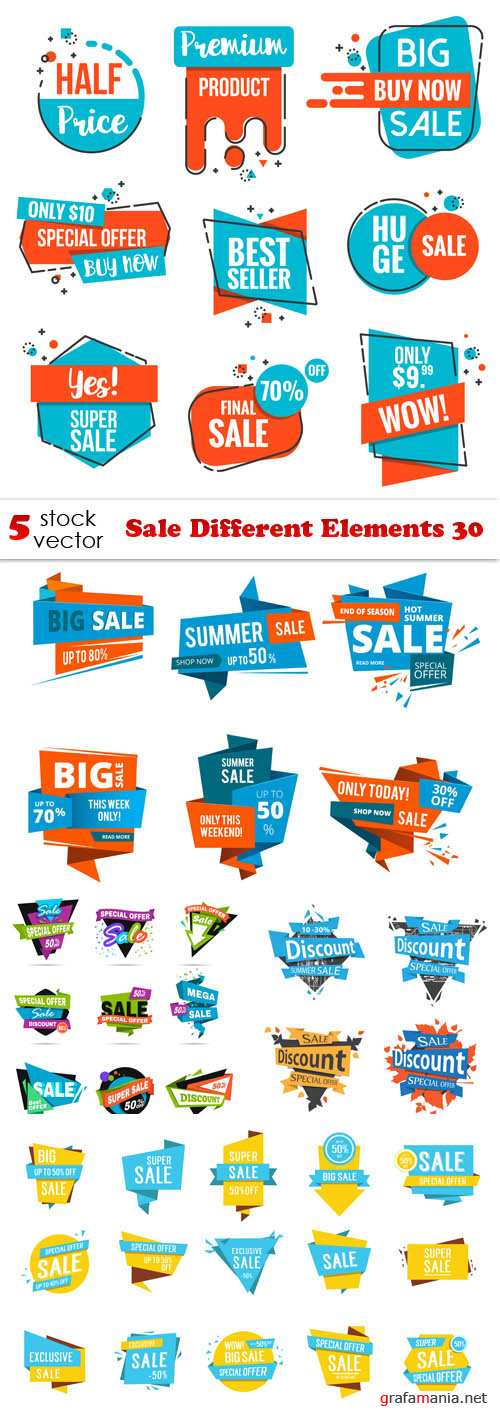 Vectors - Sale Different Elements 30