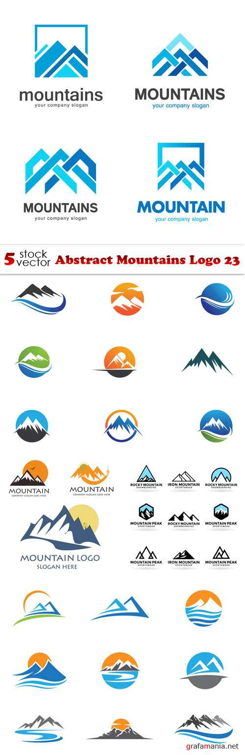 Vectors - Abstract Mountains Logo 23