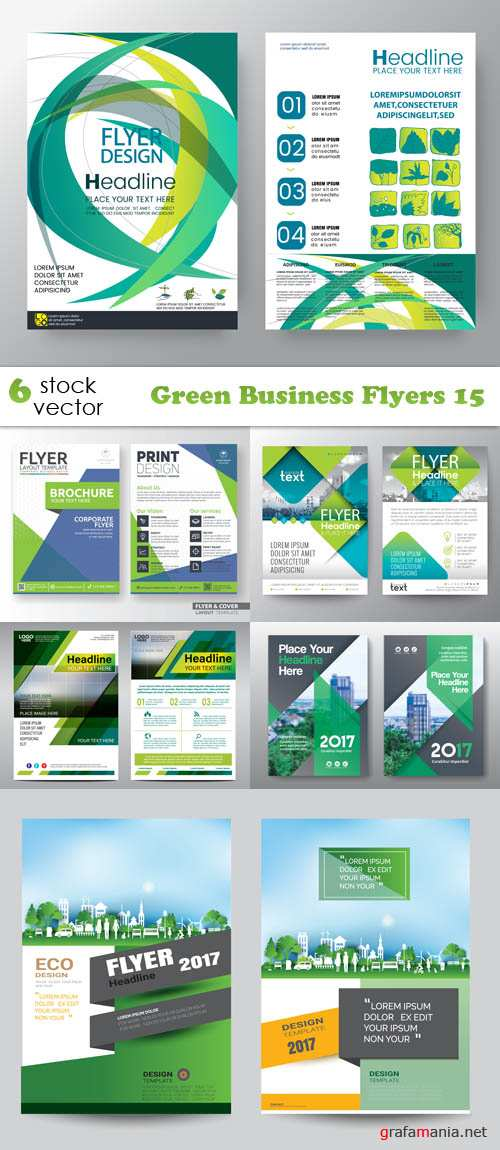 Vectors - Green Business Flyers 15