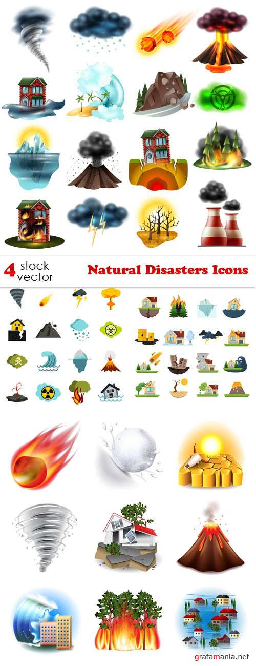 Vectors - Natural Disasters Icons