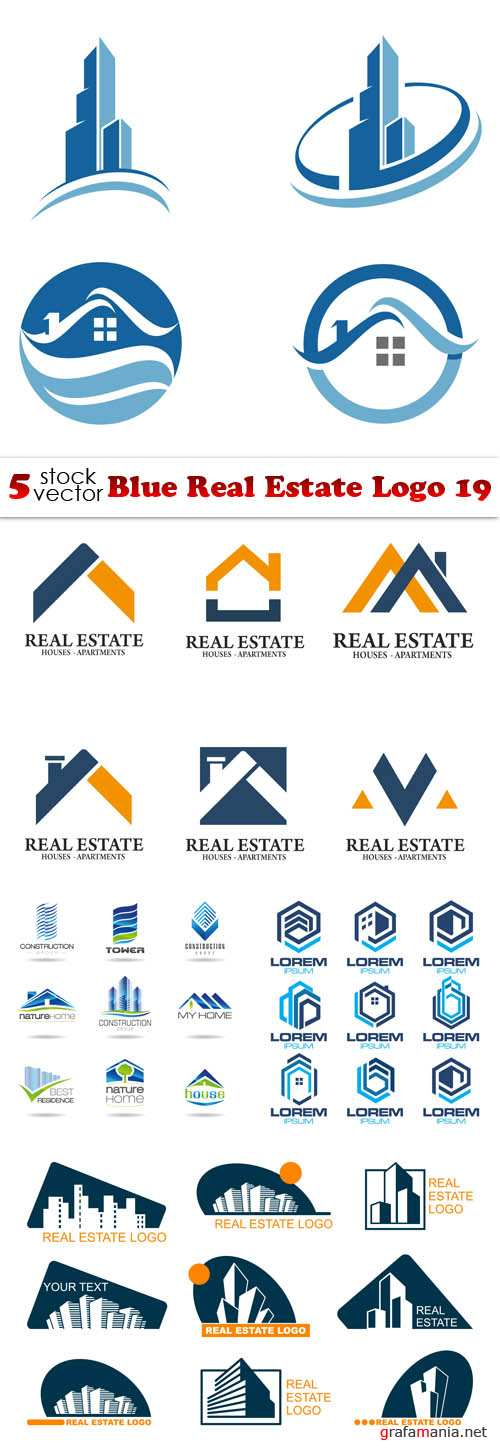 Vectors - Blue Real Estate Logo 19