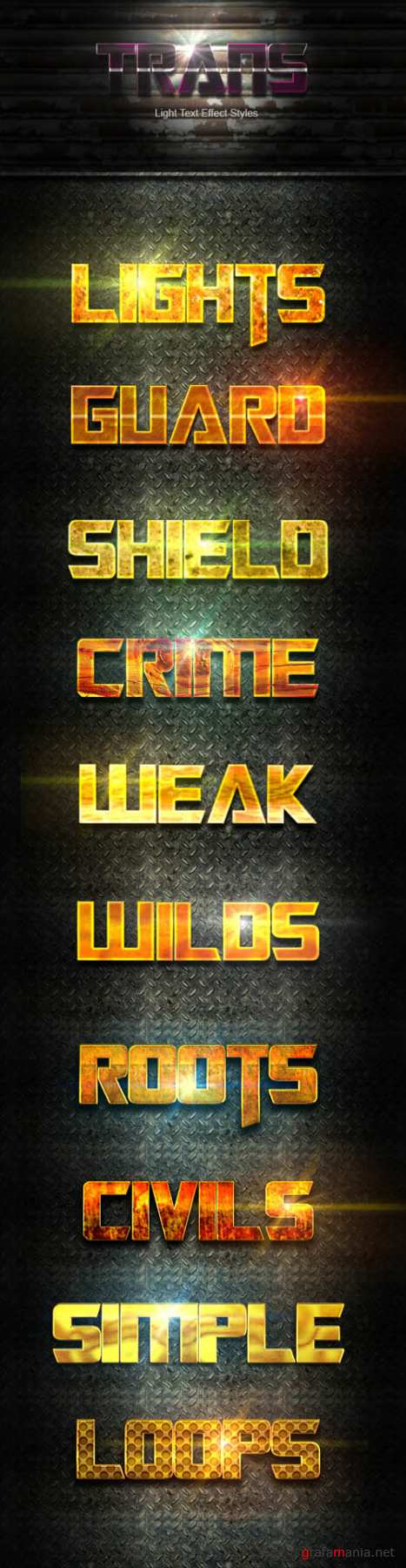 10 Photoshop GOLD Text Effect Styles Vol 32 20200746