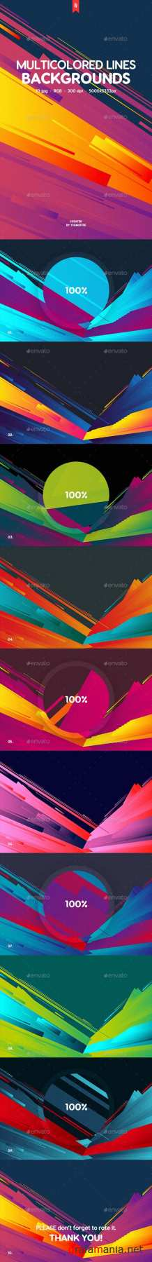 Abstract Multicolored Flat Layered Lines Backgrounds 20234066