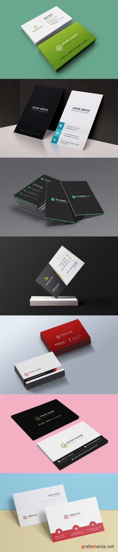 7 Business Card Templates Set
