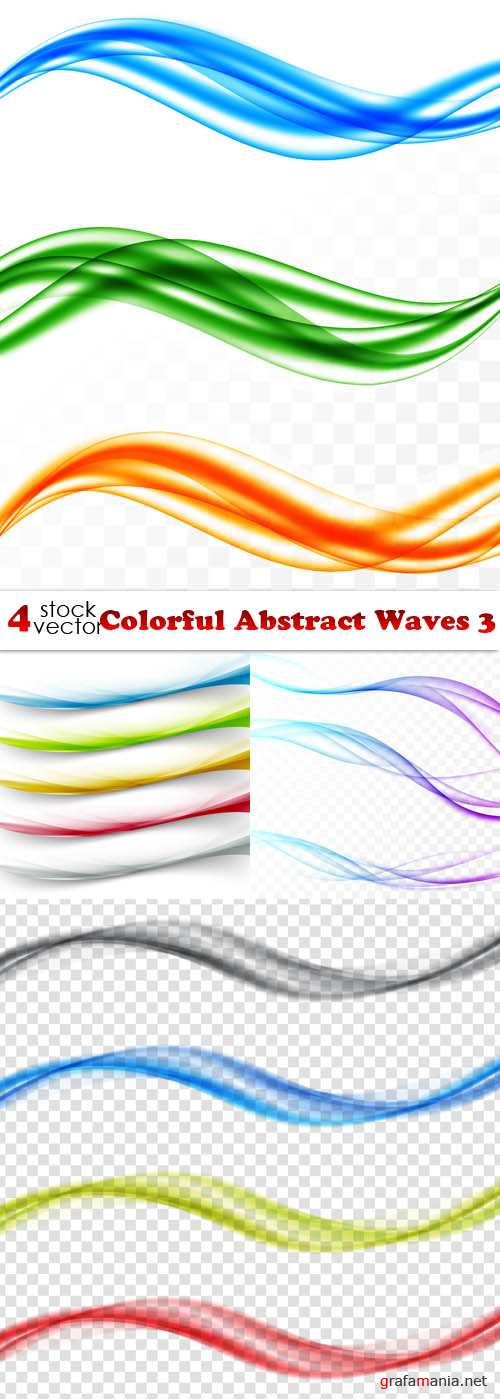 Vectors - Colorful Abstract Waves 3