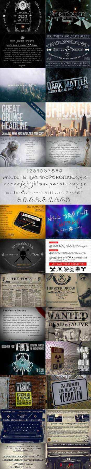 7 Handmade Fonts Bundle 1591813