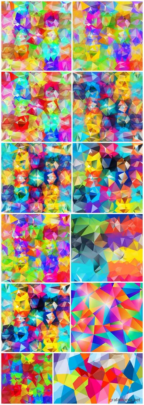 Abstract geometric background - 12 EPS