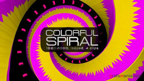 Colorful Spiral VJ Pack 20435314
