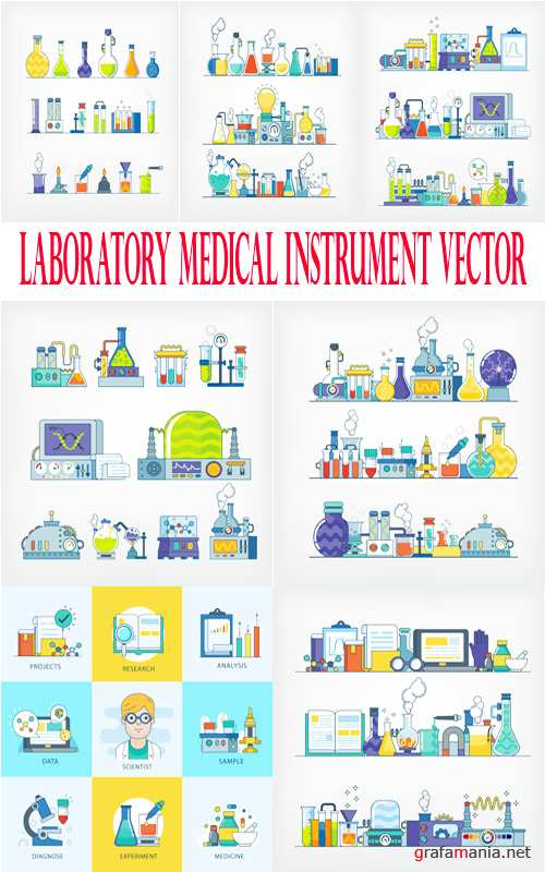 Laboratory medical instrument vector