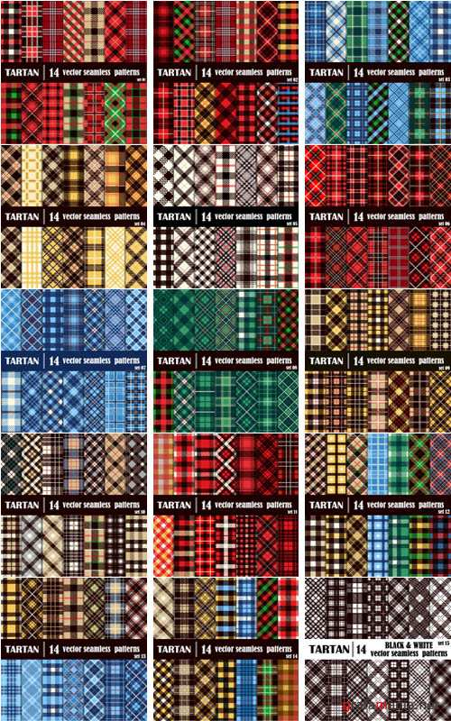 Tartan backgrounds vector