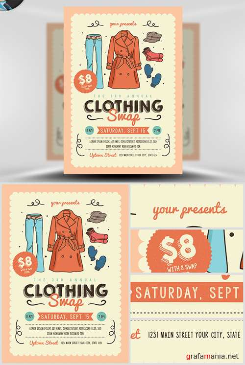 Flyer Template - Community Clothing Swap