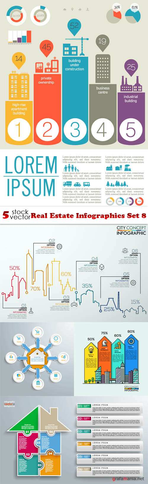 Vectors - Real Estate Infographics Set 8