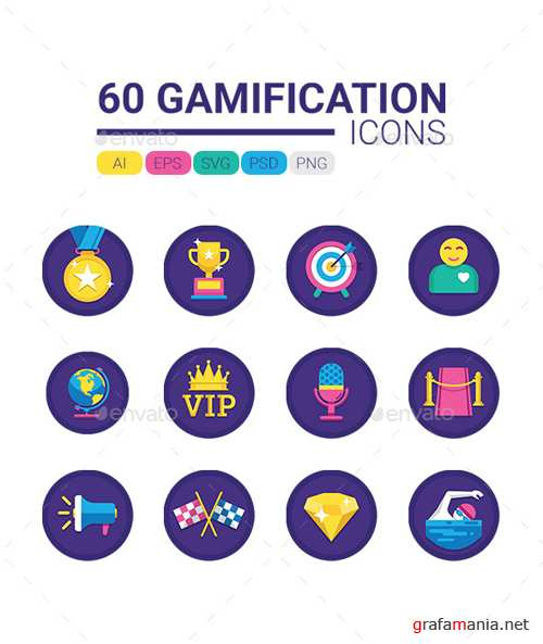 60 Gamification Icons 20705541
