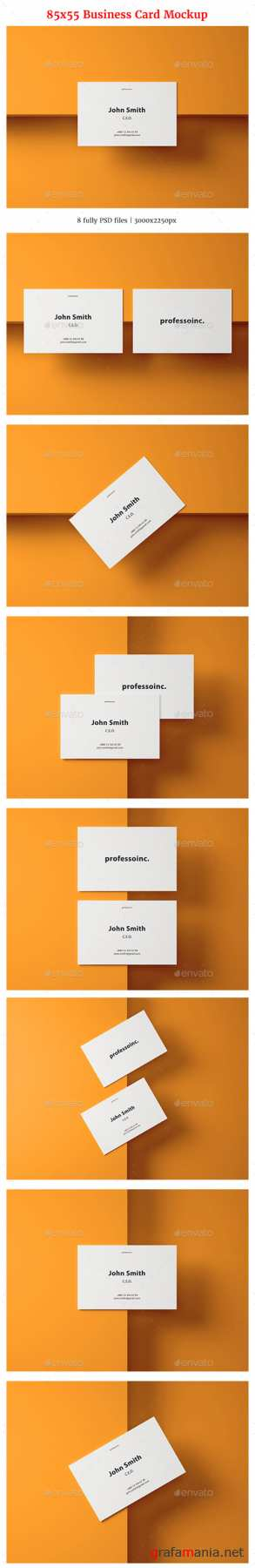 85x55 Business Card Mockup Set 2 20769194