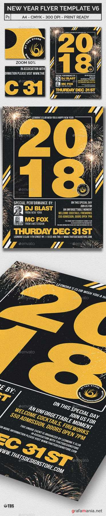 New Year Flyer Template V6 20898759