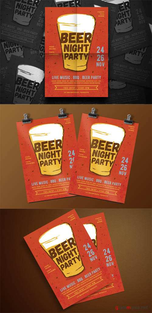 Beer Party Flyer PSD