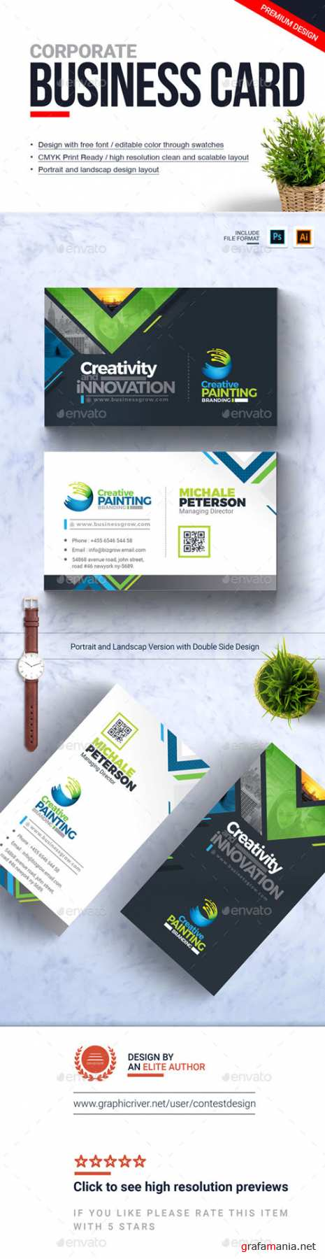 Corporate Business Card Design Template 20952678