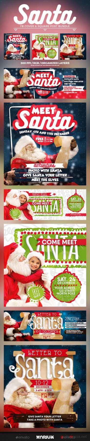Meet Santa Facebook Cover Bundle 20954391