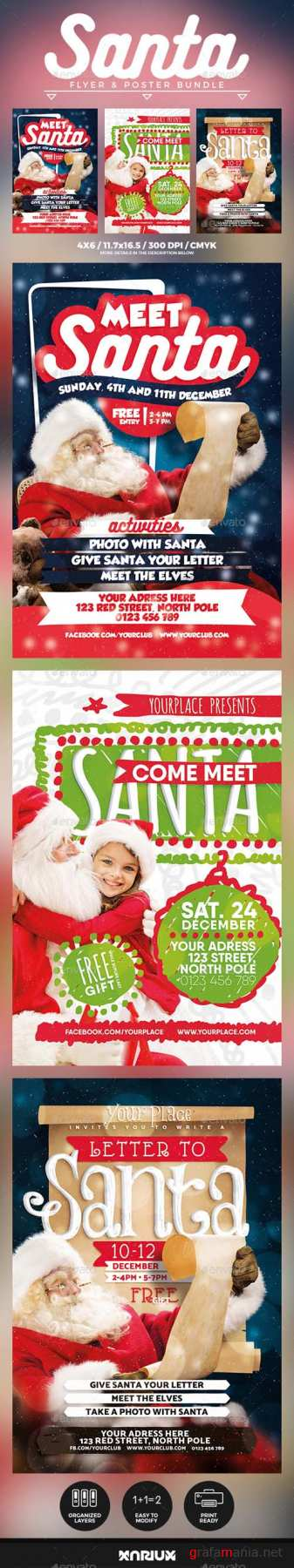 Meet Santa Flyer & Poster Bundle 20954295