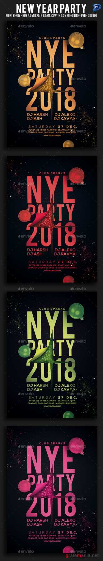 New Year Party Flyer 20952961