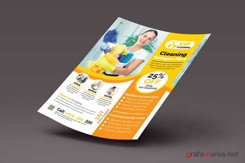PSD Cleaning Services Flyer