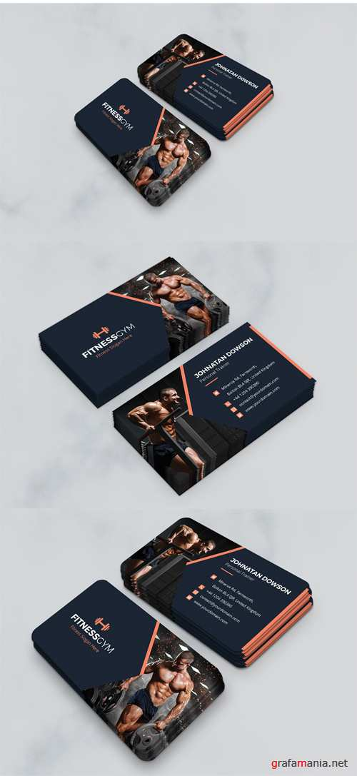 Business Card – Gym, Fitness and Health