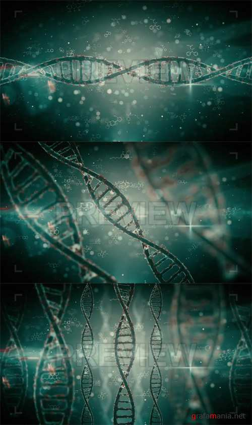 Pack Backgrounds Futuristic DNA Strands Looped