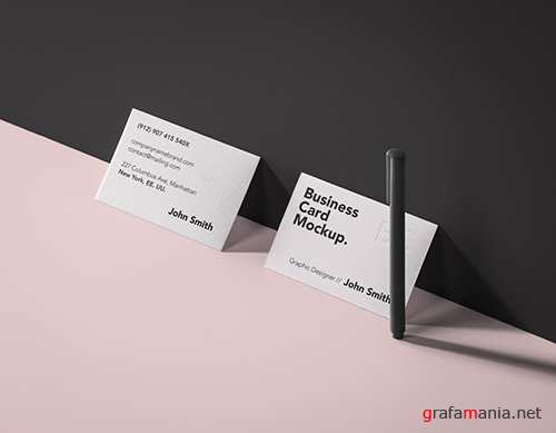Business Card Brand Mockup Vol 7