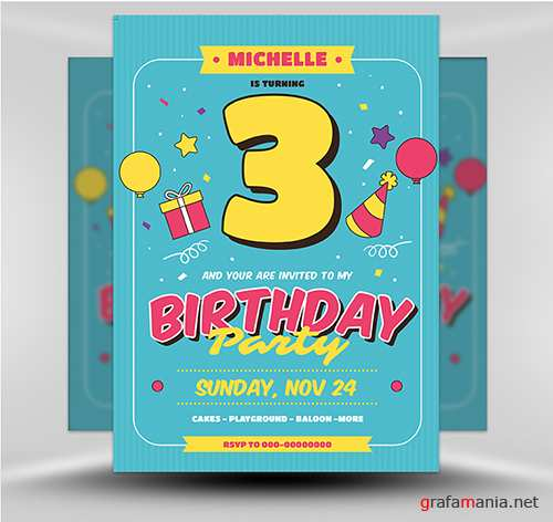 PSD Kids Birthday v1