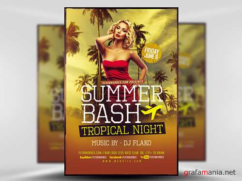 PSD Summer Bash Flyer Template V2