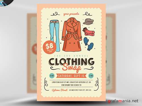 PSD Community Clothing Swap Flyer Template