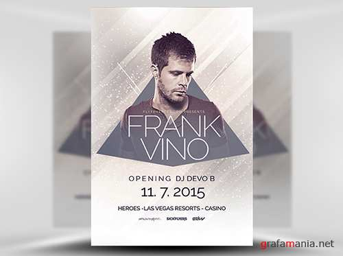 PSD Minimal House DJ Flyer Template