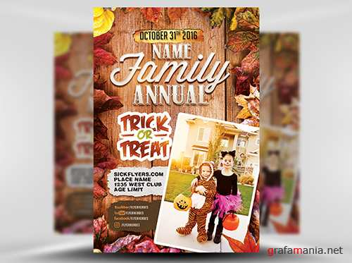 PSD Annual Family Trick or Treat Flyer Template