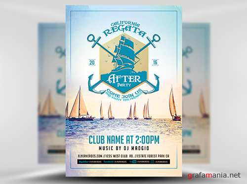 PSD Regata After Party Flyer Template