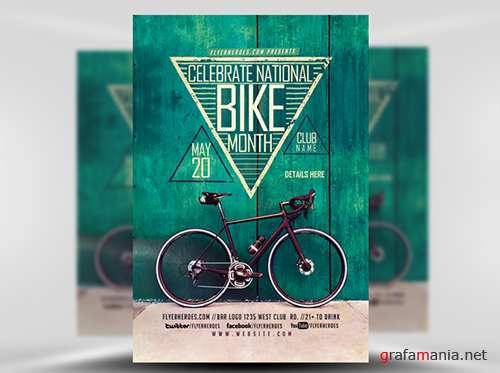 PSD Bike Month Flyer Template
