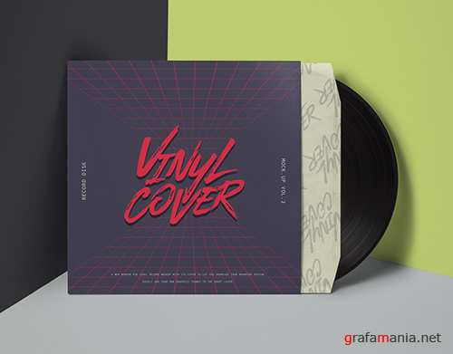Vinyl Cover Record Mockup Vol 4
