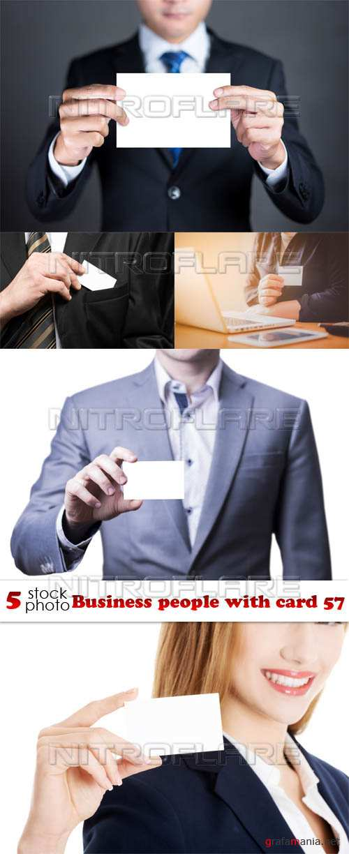 Растровый клипарт - Business people with card 57
