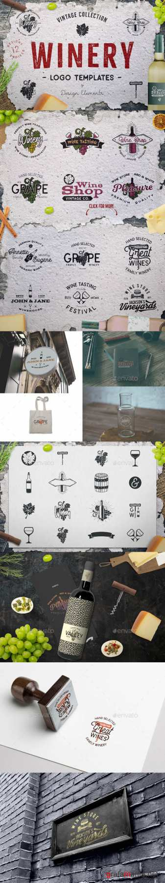 Winery Logo Designs & Wine Elements 21491009