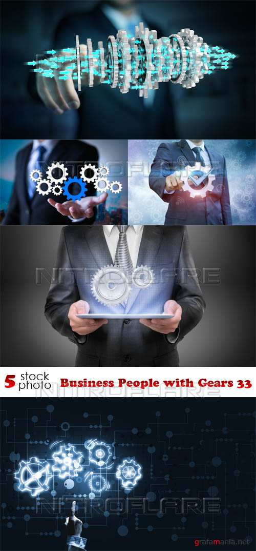 Растровый клипарт - Business People with Gears 33