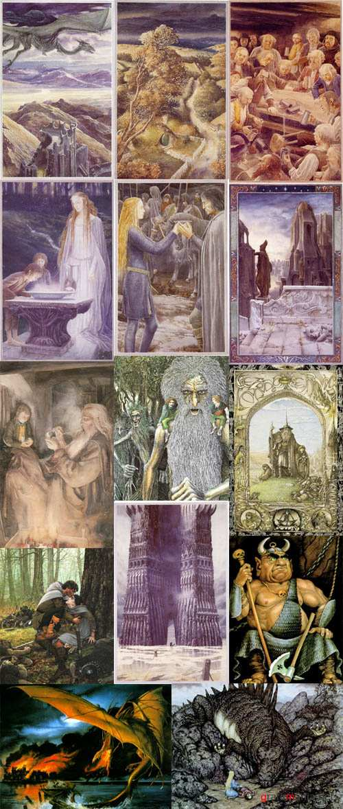 J.R.R. Tolkien Ilustrations. Artworks