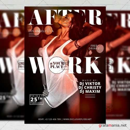 After Work Party - Club A5 Flyer Template