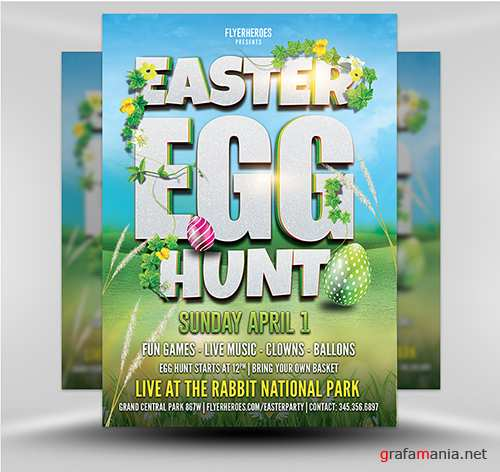PSD - Easter Party Flyer Template v7